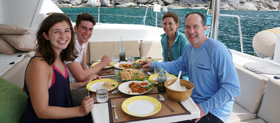 Lunch onboard Catamaran Lagoon 440 Calypso Phuket